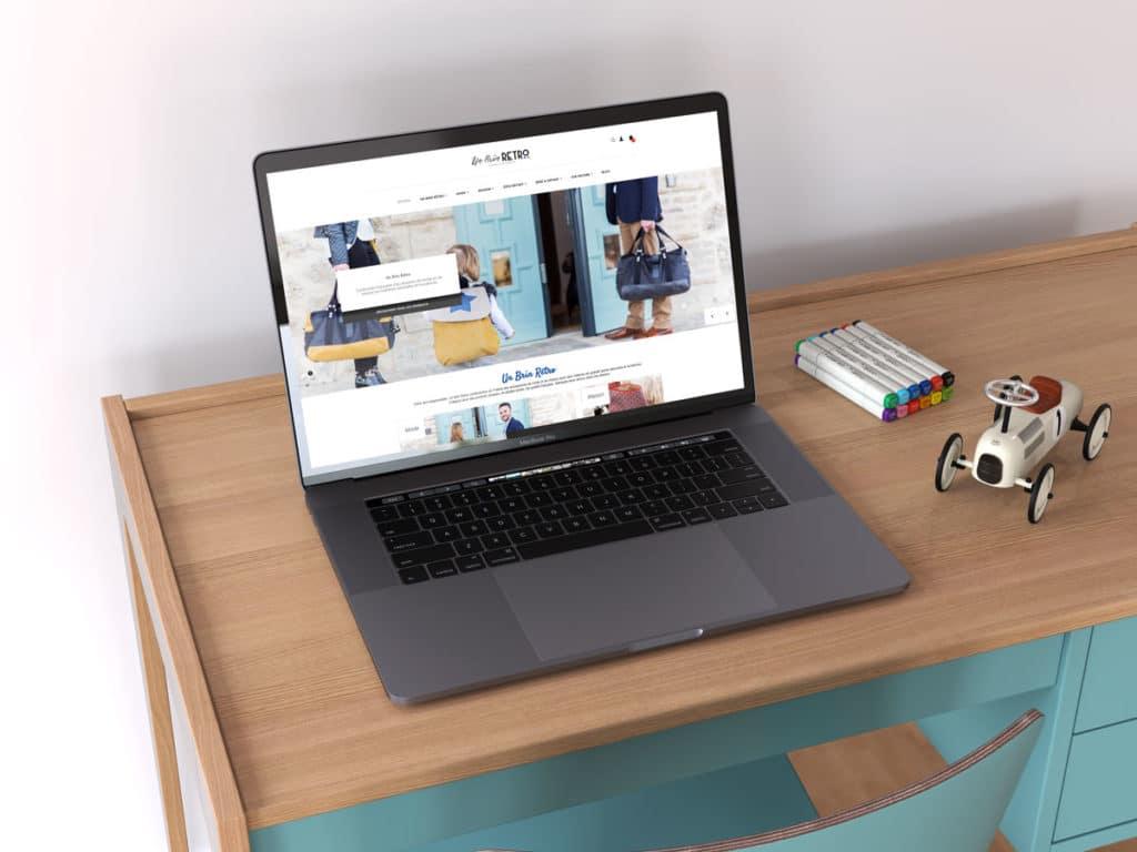 Réalisaiton du site e-commerce Un Brin Rétro