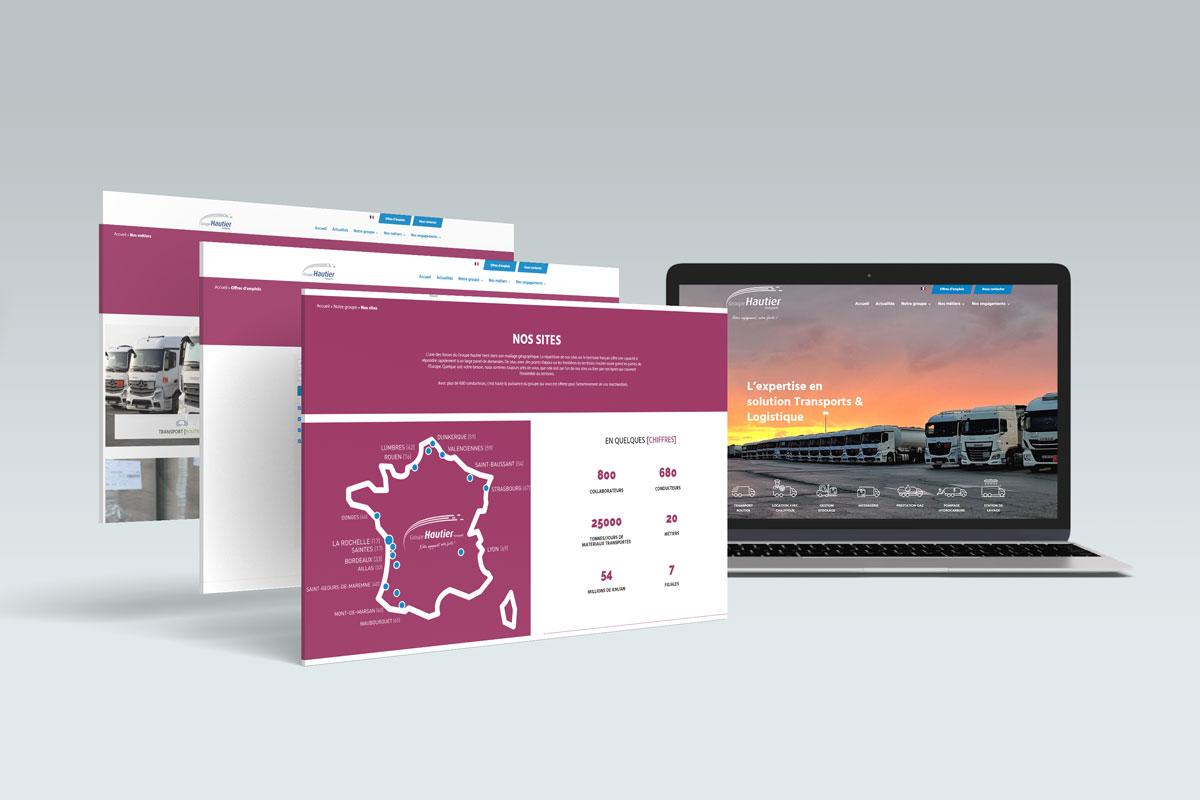 Refonte de site web du Groupe Hautier Transports
