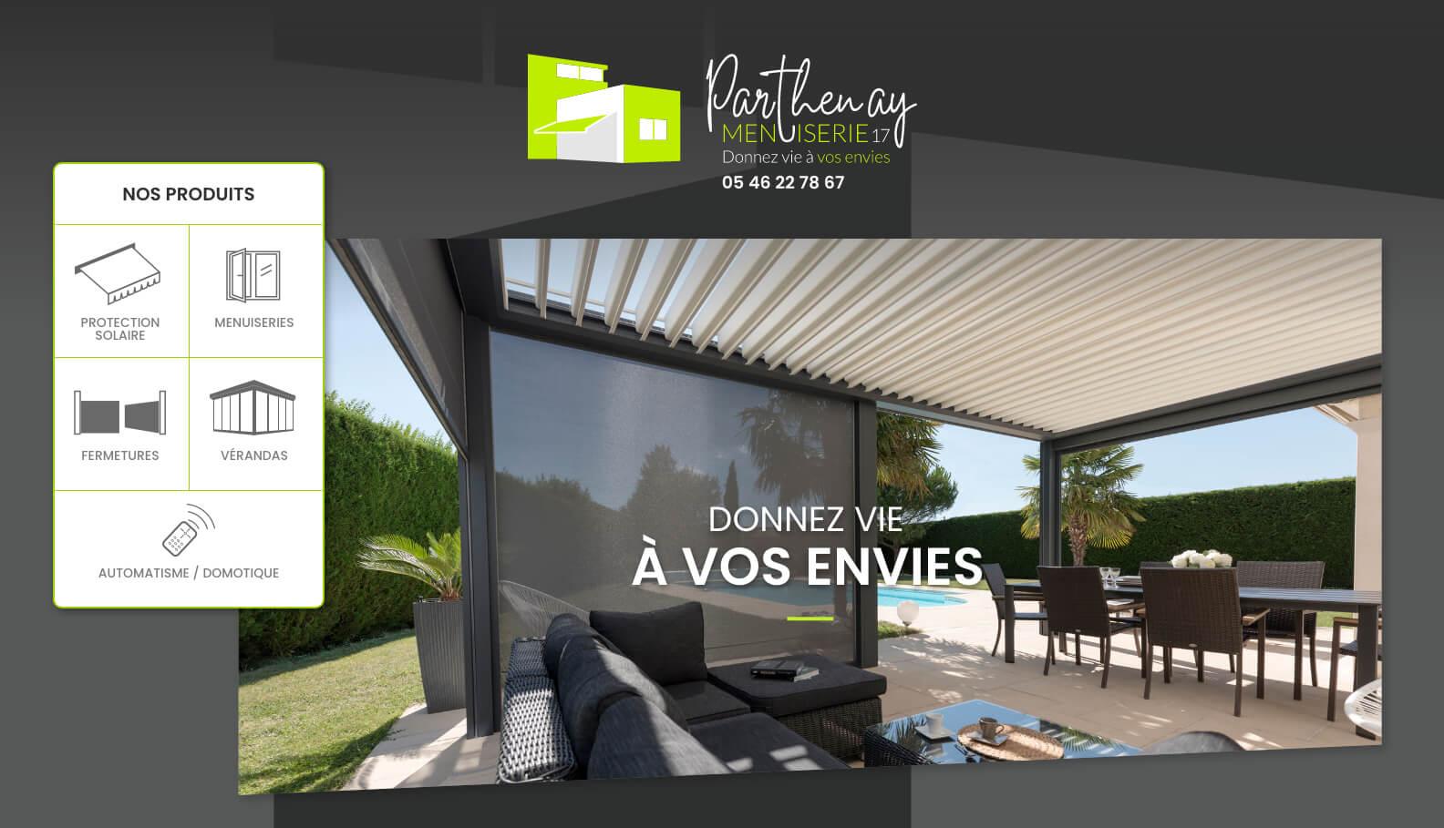creation site internet La Rochelle pour Parthenay Menuiserie 17