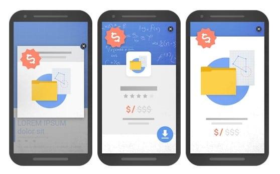 Exemple de pop-up considérés comme des éléments intrusifs en matière d'exéprience utilisateur selon google et son nouvel algorithme SEO