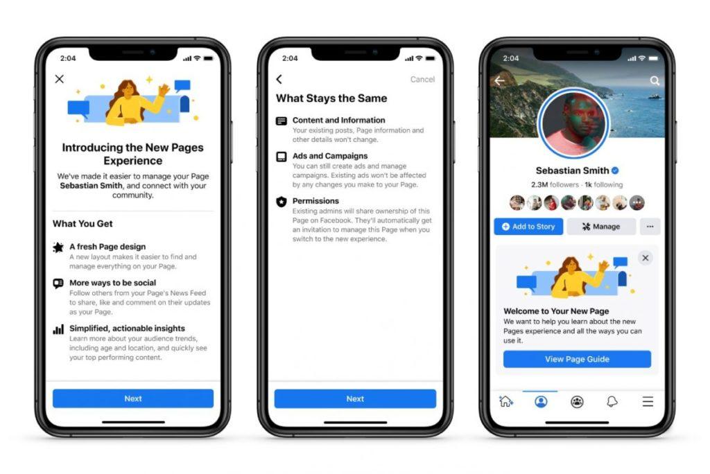 Pages Facebook : les 6 évolutions avec le déploiement de la nouvelle version des Pages