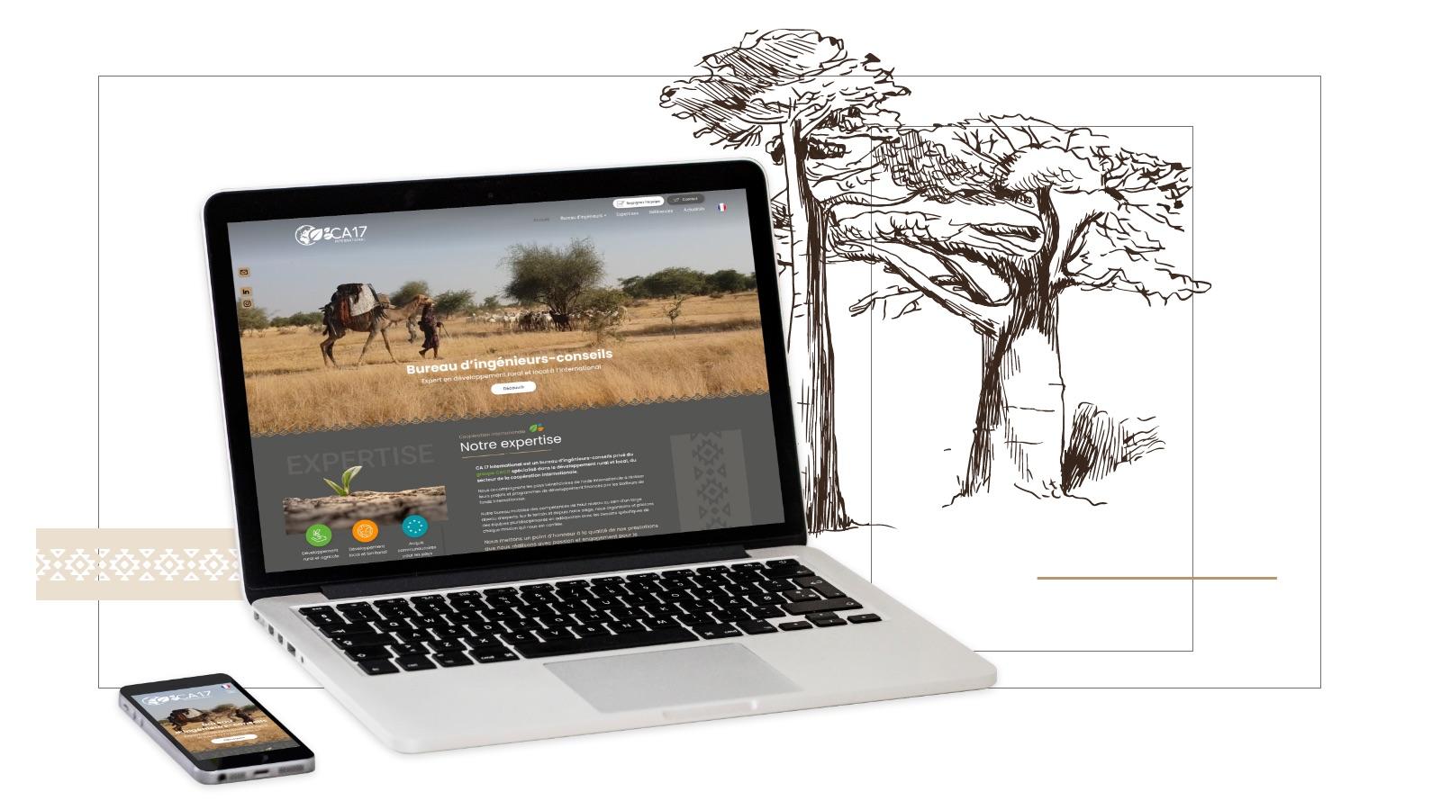 Refonte site internet CA17 International