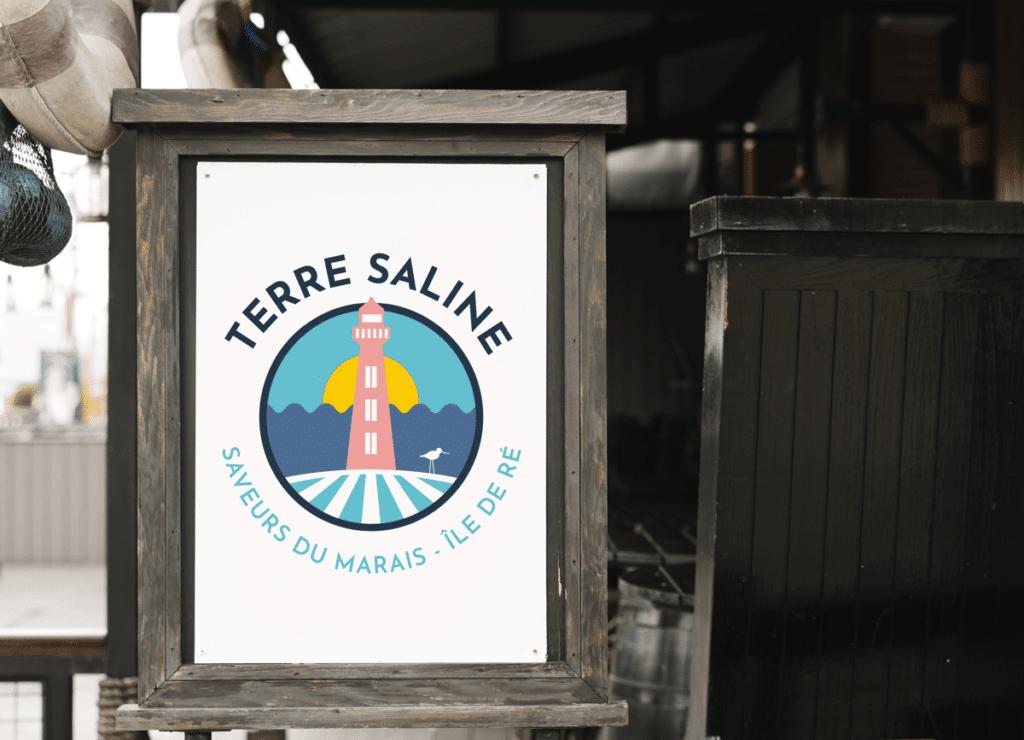Création du logo Terre Saline par l'agence de communication Naskigo