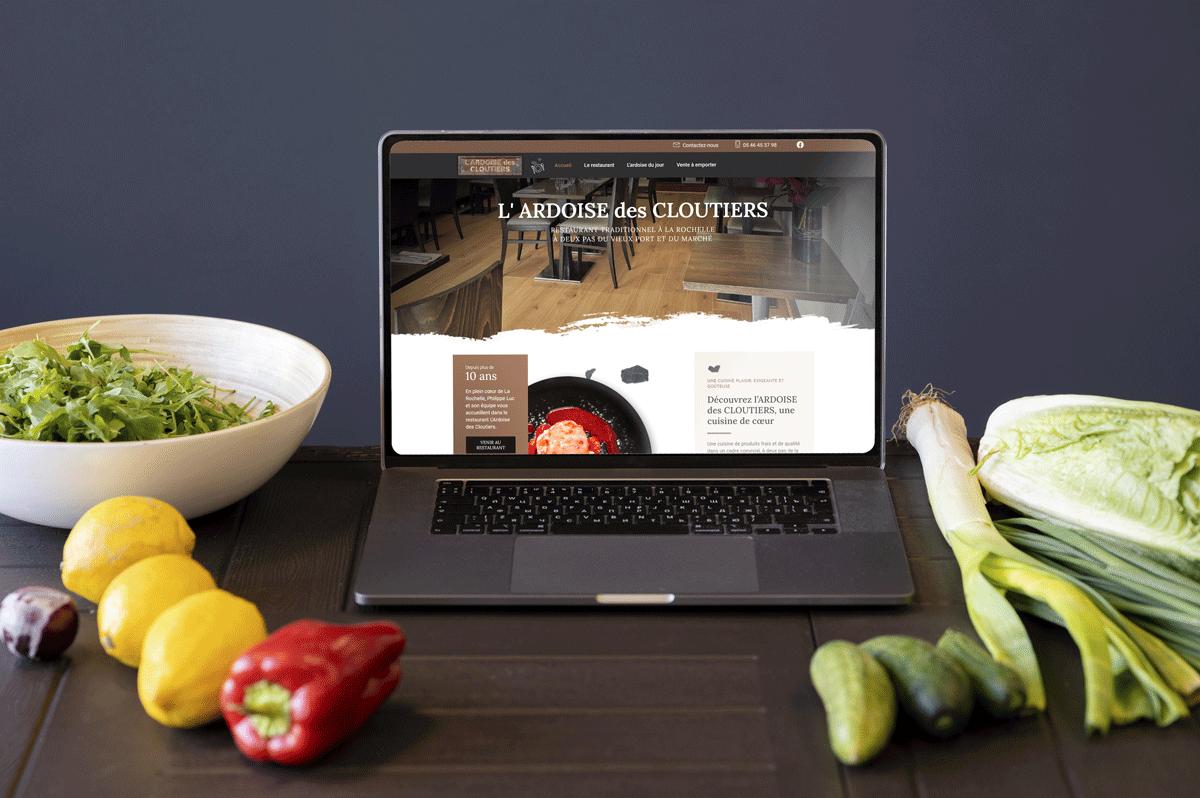 Création du site web L'Ardoise des Cloutiers, restaurant au centre ville de La Rochelle