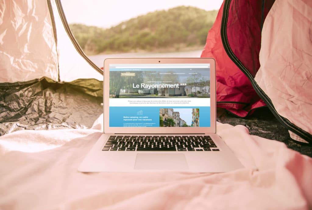 Création du site web du camping Le Rayonnement à Rochefort