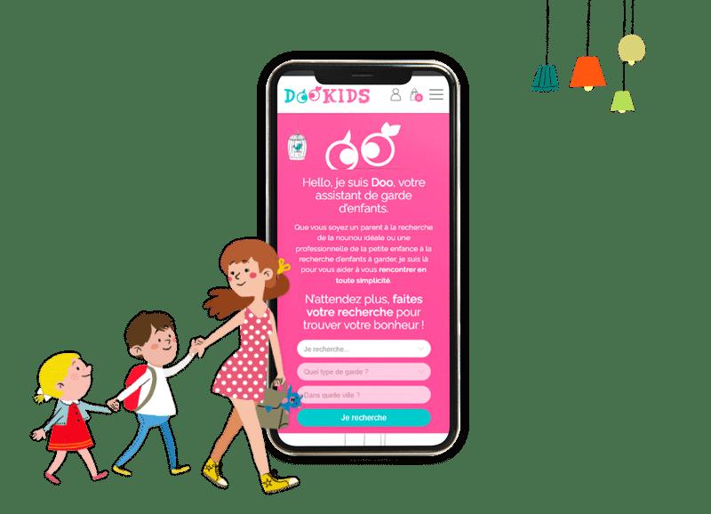 Site e-commerce Dookids responsive
